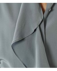 Reiss - Blue Raine Ruffle-detail Blouse - Lyst