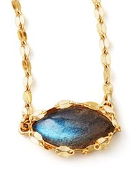 Lana Jewelry Metallic Labradorite Charm Necklace