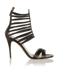 Jerome C. Rousseau Black Sacli Cutout Leather Sandals