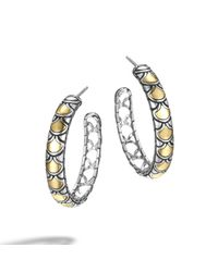 John Hardy | Metallic Naga Medium Hoop Earring | Lyst