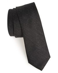 Calibrate | Black 'phuket Island' Woven Silk Blend Tie for Men | Lyst