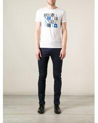 Armani Jeans White Logo T-Shirt for men