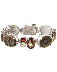 Stephen Dweck Metallic Silver-tone Blue Stone Bracelet