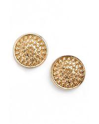 Anne Klein Metallic Beaded Stud Earrings