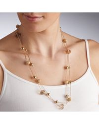 John Lewis - Metallic Facet Acryic Bead And Coil Bead Long Necklace - Lyst