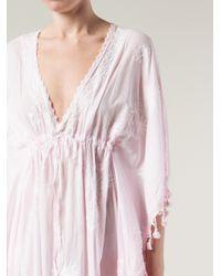 Muzungu Sisters Pink Tassel Dress