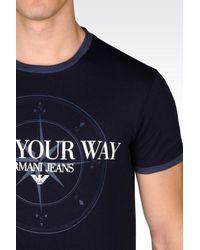 Armani Jeans | Blue Jersey T-shirt for Men | Lyst