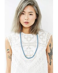 The Things We Keep | Blue Yves Woven Necklace | Lyst
