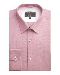 Racing Green Jenson Tailored Fit End On End Formal Shirt for men
