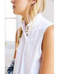 BDG - White Locals Muscle Tee - Lyst