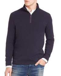 Polo Ralph Lauren | Blue Half-zip Pima Cotton Pullover for Men | Lyst