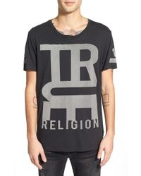 True Religion | Black X Russell Westbrook 'rflkt' Reflective Graphic Crewneck T-shirt for Men | Lyst