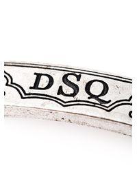 DSquared² | Metallic Logo Bracelet for Men | Lyst