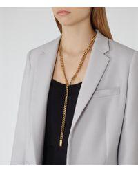 Reiss | Metallic Lianna Chain Pendant | Lyst
