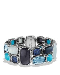 David Yurman - Blue Chatelaine Mosaic Bracelet With Black Orchid & Turquoise - Lyst
