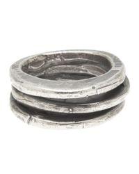 Goti Metallic Triple Stack Ring for men