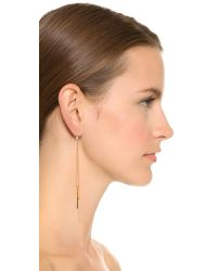 Kenneth Jay Lane | Metallic Dangling Bar Earrings - Gold | Lyst