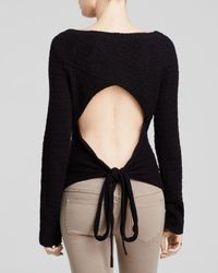 Free People | Black Bow Back Pullover Sweater | Lyst