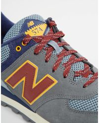 New Balance | Gray 574 Trainers for Men | Lyst