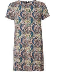 True Decadence Multicolor Tunic Tee Dress