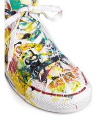 Rialto Jean Project - Multicolor One Of A Kind Hand-painted Splash High Top Sneakers - Sz 36 - Lyst