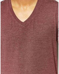 SELECTED | Purple V Neck T-shirt In Pima Cotton for Men | Lyst
