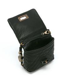 Lanvin - Black Quilted Lambskin 'happy Mini Pop' Chain Shoulder Bag - Lyst