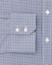 Thomas Pink Blue Bartlett Texture Dress Shirt - Regular Fit for men