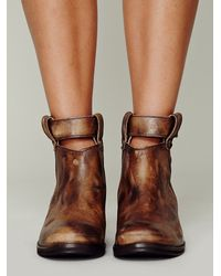 Free People Brown Bandit Ankle Boot