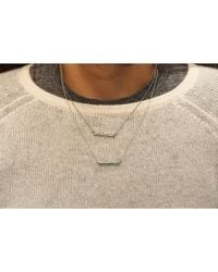 Adornia | Green Emerald And Sterling Silver Barra Bar Necklace | Lyst