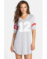 Jane & Bleecker New York Gray Jersey Varsity Sleep Shirt