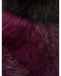 ROKSANDA Black Aris Fur Scarf