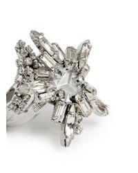 Erickson Beamon - Metallic 'star Search' Swarovski Crystal Brass Ring - Lyst