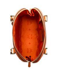 MCM Orange Bowler Bag