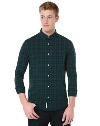 Original Penguin | Green Heritage Slim Fit Plaid Button Down for Men | Lyst