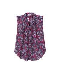 Rebecca Taylor - Purple Sleeveless Mystic Garden Print Chiffon Top - Lyst