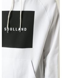 Soulland - White 'Barny' Hoodie for Men - Lyst