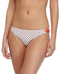 Splendid - White Geo-dot Retro Swim Bottom - Lyst