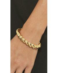 Giles & Brother - Metallic Oversized Twist Cuff Bracelet - Gold - Lyst