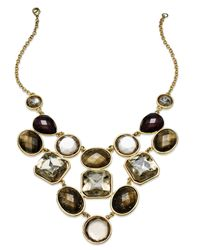 INC International Concepts | Metallic Gold-tone Multistone Bib Necklace | Lyst