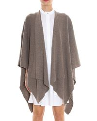 Vince - Natural Draped Poncho Wrap - Lyst