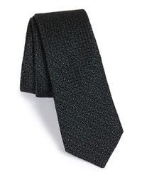 W.r.k. Black Silk & Cotton Tie for men