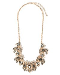 Forever 21 | Metallic Mixed Rhinestone Statement Necklace | Lyst