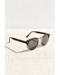 Urban Outfitters - Black Mixed Matte Round Sunglasses - Lyst