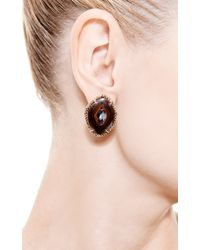 Kimberly Mcdonald - Red One Of A Kind Yowah Nut Opal and Natural Brown Diamond Stud Earrings - Lyst