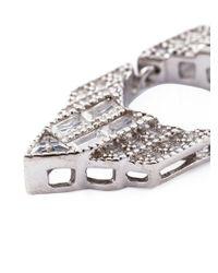 V Jewellery - Metallic 'deco Chrysler' Necklace - Lyst