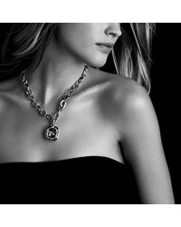 David Yurman - Black Labyrinth Pendant With Diamonds - Lyst