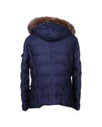 Brunello Cucinelli Blue Down Jacket for men