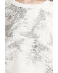 IRO   White Helio Boxy Printed Blouse   Lyst