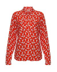 Paul & Joe | Red Carlota Rabbit Print Ls Shirt | Lyst